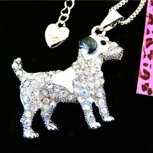 Necklace-NEW- Betsey Johnson Dog Pendant and Chain